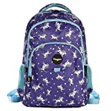 FRINGOO® Girls Boys Multi-compartment School Backpack Waterproof Fits Laptop 17'' (H:44cm*L:29cm*W:21cm, Unicorn Sky)
