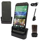 TECHGEAR HTC One M8 / E8 Station d'Accueil Chargeur de Bureau, avec Fonction OTG Intégrée + Câble Chargeur USB/Transfert de Données