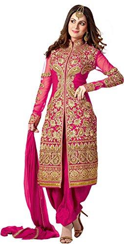 Krishna Emporia Women's Pink Salwar Suit Dupatta Dress Material