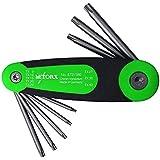 Juego de destornilladores TORX® 71294 en soporte plegable 8 piezas. TX9 - TX40   Made in Germany   TX9   TX10   TX15   TX20   TX25   TX27   TX30   TX40   TX   para tornillos TORX