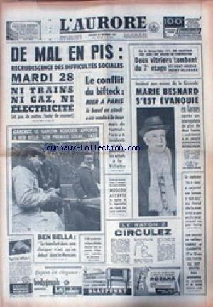 AURORE (L') du 22/11/1961 - DIFFICUL...