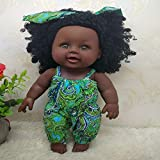 MYYXGS Reborn Baby Doll Real Body Roto-PVC Baby Girl Doll Black Indian Style Soft Doll 12 Pollici 30cm