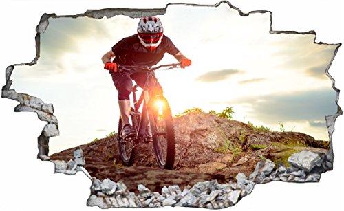 DesFoli Bike 3D Look Wandtattoo 70 x 115 cm Wanddurchbruch Wandbild Sticker Aufkleber C598