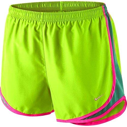 NIKE gedruckt Tempo Damen Shorts (Große, Flash Kalk/Emerald Grün)