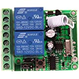 Awakingdemi Dc 12V 315Mhz Wireless Rf Remote Control Momentary Switch Channel Relay Transmitter and Relay Receiver with Battery