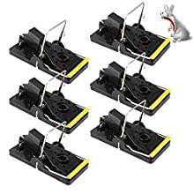 Mouse Trap,6- Pack Mice Kill Mouse Control,Trap Mouse Reusable and Humane Rodent Trap for Indoors and Outdoors