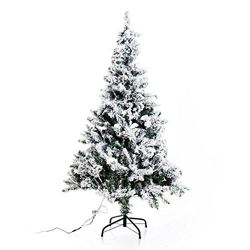 homcom Albero di Natale Artificiale Altezza 150cm con Luci LED Verde