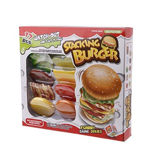 (JAGENIE Lern-Brett, Burgerspiel, Kinderspielzeug, Geburtstagsgeschenk, lustiges Geschenk)