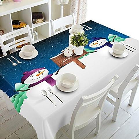 sunnymi Christmas tablecloth 50*130cm Party Picknick Tischtuch Weihnachten,Schreibtisch Dekor Frohe Weihnachten Rectangular Bedruckte Stoff Tischdecke (50*130cm, (Schwarz Premier Tischdecken)
