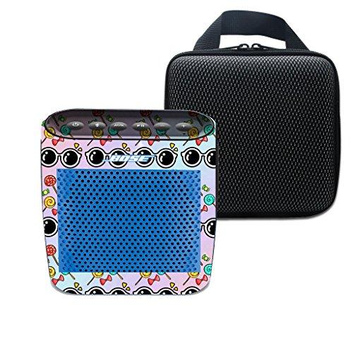 3C-LIFE für Bose Soundlink Farbe drahtloser Bluetooth Lautsprecher weiche Trage Spielraum-Speicher-Fall-Beutel & Print Halloween coole Sonnenbrillen und bunten Süßigkeiten Aufkleber (Farbe 6)