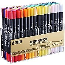 10er Wasserdichte Permanent Marker Stifte Marker Pens Dual Spitze Schwarz