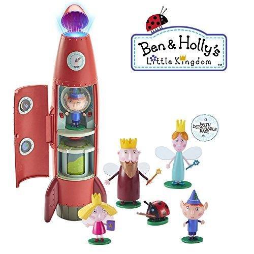 Ben & Holly kleines Königreich - Elf Rakete Spielset mit Klängen und 6 Figuren Geschenk-Set