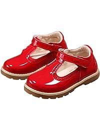 42cb778fc4c00 PPXID Enfant Automne Chaussure à Fond Plat Vernis bébé Chaussure de  Princesse pour Les Petites Filles