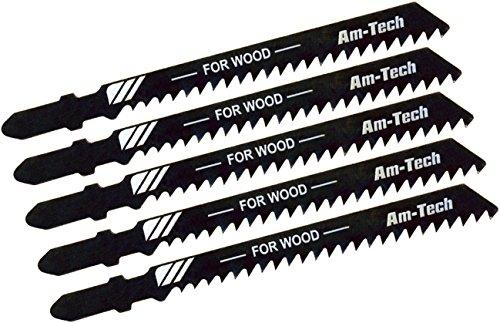 Preisvergleich Produktbild Am-Tech M1600 Bosch Sägeblatt-Set, 5-teilig, für Stichsäge, für Holz