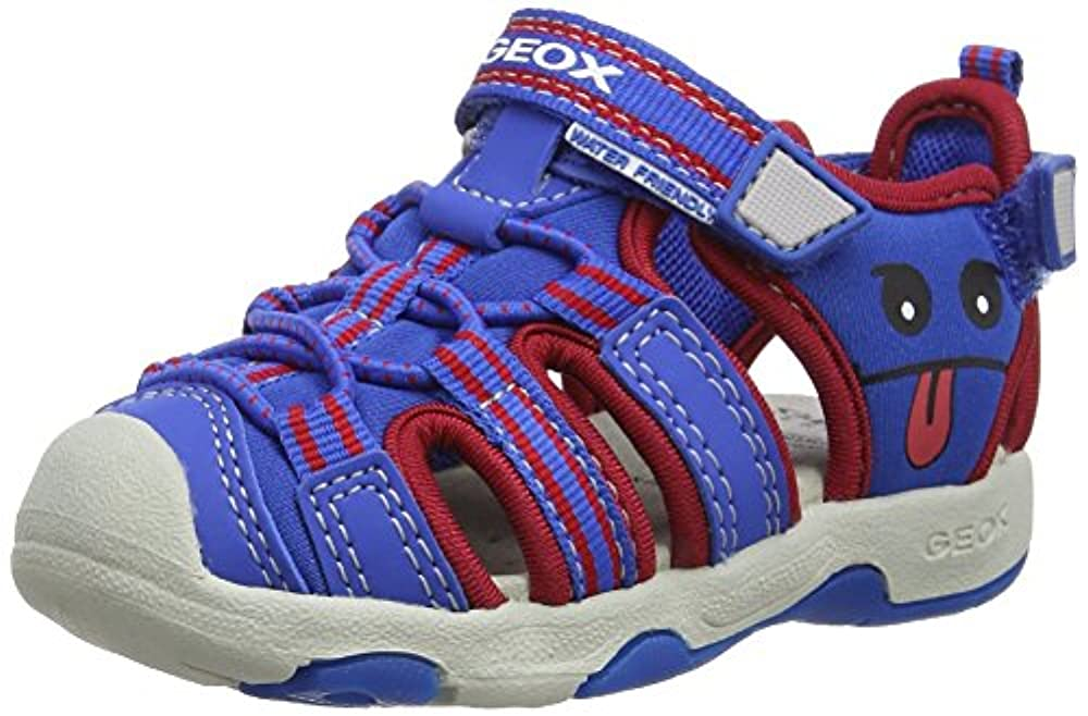 Ecco Kinder Junge Sandale Veloursleder Klettverschluss Textilfutter blau Schuhe