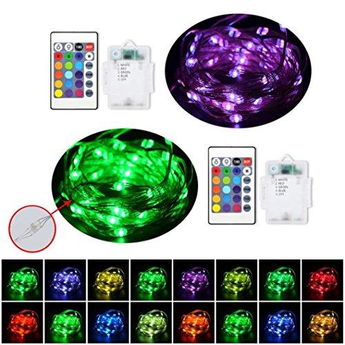 Led Stripes, Gusspower Wasserdicht batteriebetriebenen Powered 8 Dis Spiel Modelle Lichterkette Licht Streifen mitfür Weihnachten Kicthen Party Innen und Außendekoration Valentinstag (5M)