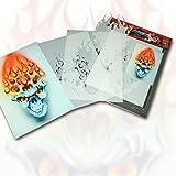 SCHNEIDMEISTER Airbrush Schablone Flaming Skull 001, Flammen, Schädel, ca. A4, SM-HBFS001