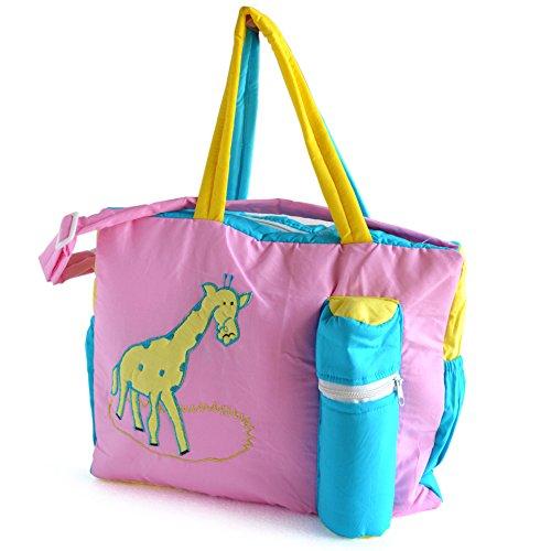 Duck Giraffe Baby Mother Diaper Bag Pink, Blue & Yellow