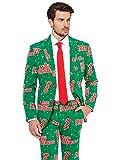 Opposuits Weihnachtsanzüge für Herren besteht aus Sakko, Hose und Krawatte