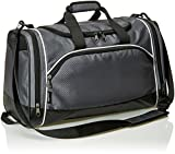 AmazonBasics Sports Duffel - Small, Graphite