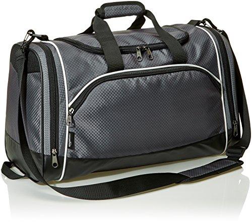 AmazonBasics - Sporttasche, Größe S, Graphitgrau