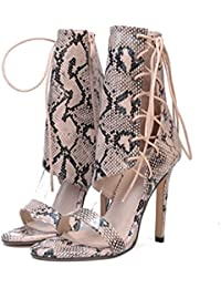 MEIbax Clearance Sale Frauen Sandalen Schnalle Einfache Mode High Heel Sandaletten Lady Rivet Studded Heels (Khaki...