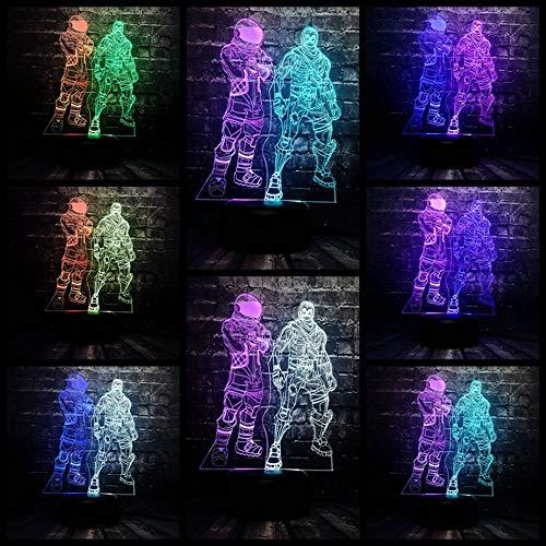3D Nachtlicht Spiel Der Figur Cool Skull Trooper Astronauten LED 7 Farbe USB Charge Schreibtisch Raum Illusion Geburtstag Spaß Kind Geschenk
