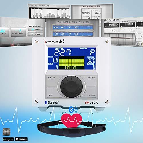 AsVIVA E3 Pro Ellipsentrainer / Crosstrainer 27kg Schwungmasse App Bluetooth Kompatibel, Magnetbremse und LCD Fitnesscomputer, Inkl. Pulsempfänger (Brustgurt Optional), Ellipsen Ergometer Silber Bild 3*