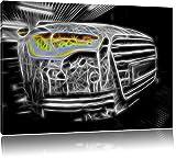 Dark L'image Audi A8 sur toile, énorme XXL Photos complètement encadrée avec civière, art impression sur murale avec cadre, moins cher que la peinture ou de l'image, aucune affiche ou un poster taille: 120x80 cm