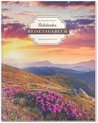 DÉKOKIND Reisetagebuch zum Selberschreiben | DIN A4, 100+ Seiten, Register, Vintage Softcover | Auch als Abschiedsgeschenk | Motiv: Fernweh