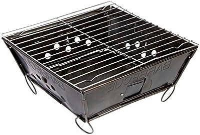 BBQ 8108145barbacoa plegable de acero negro 28x 28x 2cm