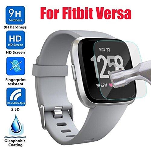 erthome Uhr Gehärteter Film, HD gehärtetes Glas LCD-Bildschirm Schutzfolie für Fitbit Versa