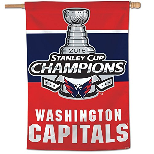 Wincraft Washington Capitals 2018 Stanley Cup Champions NHL Fahne (90 x 70)