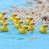 P S Retail Animal Miniature Garden Decoration Doll, 15 Pieces, 5 Mini-Yellow Duck, 5 Mini-Rabbit and 5 Mini Sheep Per Set (Multicolour)