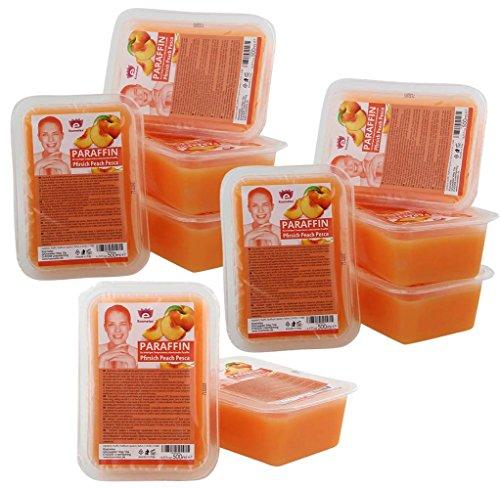 Kosmetex Paraffinbad, Paraffin-wachs mit niedrigeren Schmelzpunkt, Pfirsich Duft, 10x 500ml Pfirsich