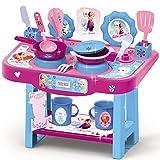 #1018 Kinder Spielküche mit Zubehör im Frozen Design • Disney Kinderküche Küchen Spielzeug Küche ELSA Anna