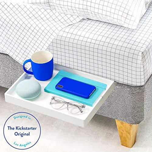 BedShelfie Slide Das Original Nachttisch Regal - 3 Farben / 3 Größen - GESEHEN AUF Business-Insider und Kickstarter (Slide, Bambus in Weiß) -