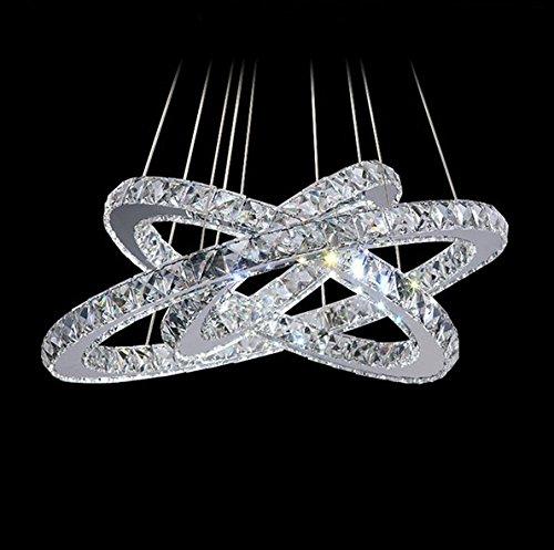 WJP moda Crystal LED anello ciondolo luce
