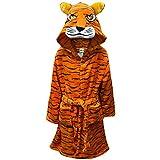A2Z 4 Kids Bambini Ragazze Ragazzi Accappatoio novità 3D Tigre Animale Morbido - Bathrobe Tiger_3-4