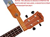 Music First Ukulelengurt, Echtleder, Kopfplatten-Adapter, für Ukulele/Banjo/akustische Gitarre/Akustik-Bass Rose aprikose
