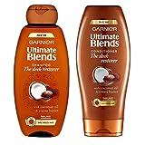 Garnier Ultimate Blends Shampoo und Conditioner, Set, mit Kokosnussöl & Kakaobutter, 400ml, 2er-Pack
