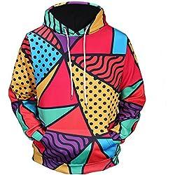 Yanhoo Sudadera con Capucha de la impresión 3D para Hombre Sudadera con Capucha Tops Abrigo de la Chaqueta Manga Larga Outwear Jersey de Jersey con Capucha Impreso en 3D para Hombres