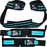 Wrist Wraps + Lifting Straps Bundle (2 Pairs) for Weightlifting, Crossfit, Workout, Gym, Powerlifting, Bodybuilding - Better Than Chalk & Leather - Support For Women & Men - Premium Quality Equipment & Accessories - Use Gloves, Hooks, Wrap & Strap to Avoid Injury During Weight Lifting - 1 Year Warranty