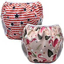Luxja Pañal de Natación para bebes Bañador Reutilizable de Nadar de Bebé Pañal lavable para Bebé
