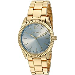 Rampage Women's 'Classic' Quartz Metal and Alloy Automatic Watch, Color:Gold-Toned (Model: RP1062GD)
