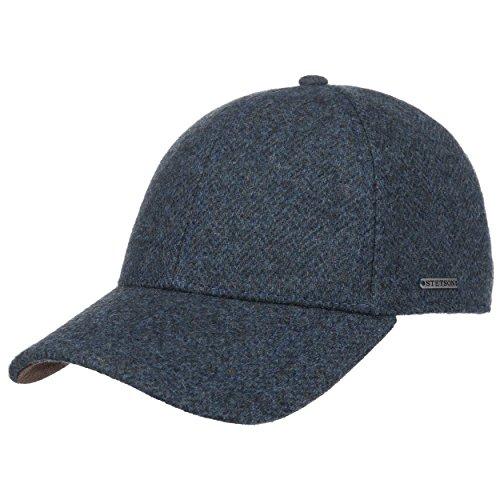 Stetson Casquette Plano Wool Cap Homme - pour l'hiver Baseball Casquettes Ferme a l'Arriere, avec Visiere, Doublure, Doublure Automne-Hiver