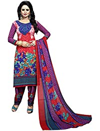 Party Wear Suit For Women Designer Unstitched Desi Hault Salwar Suit Dress Material Printed French Crepe Dress...