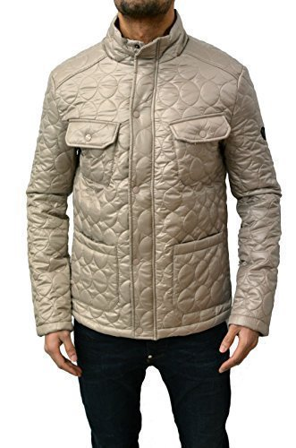 Da uomo Designer Swade Piumino trapuntato imbottito Smart Shiny caldo giacca invernale Stone XXL