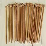 Single karbonisierten Misswonder 18 Größen aus Bambus Stricknadeln spitze Nadeln Set