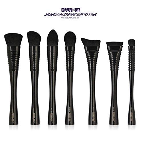 Pinceaux Maquillages,Cosmétique Brush,Beauté Maquillage Brosse,PowerFul-LOT 7 PCS Make Up Fondation Sourcils Eyeliner Blush Cosmétique Concealer Brosses